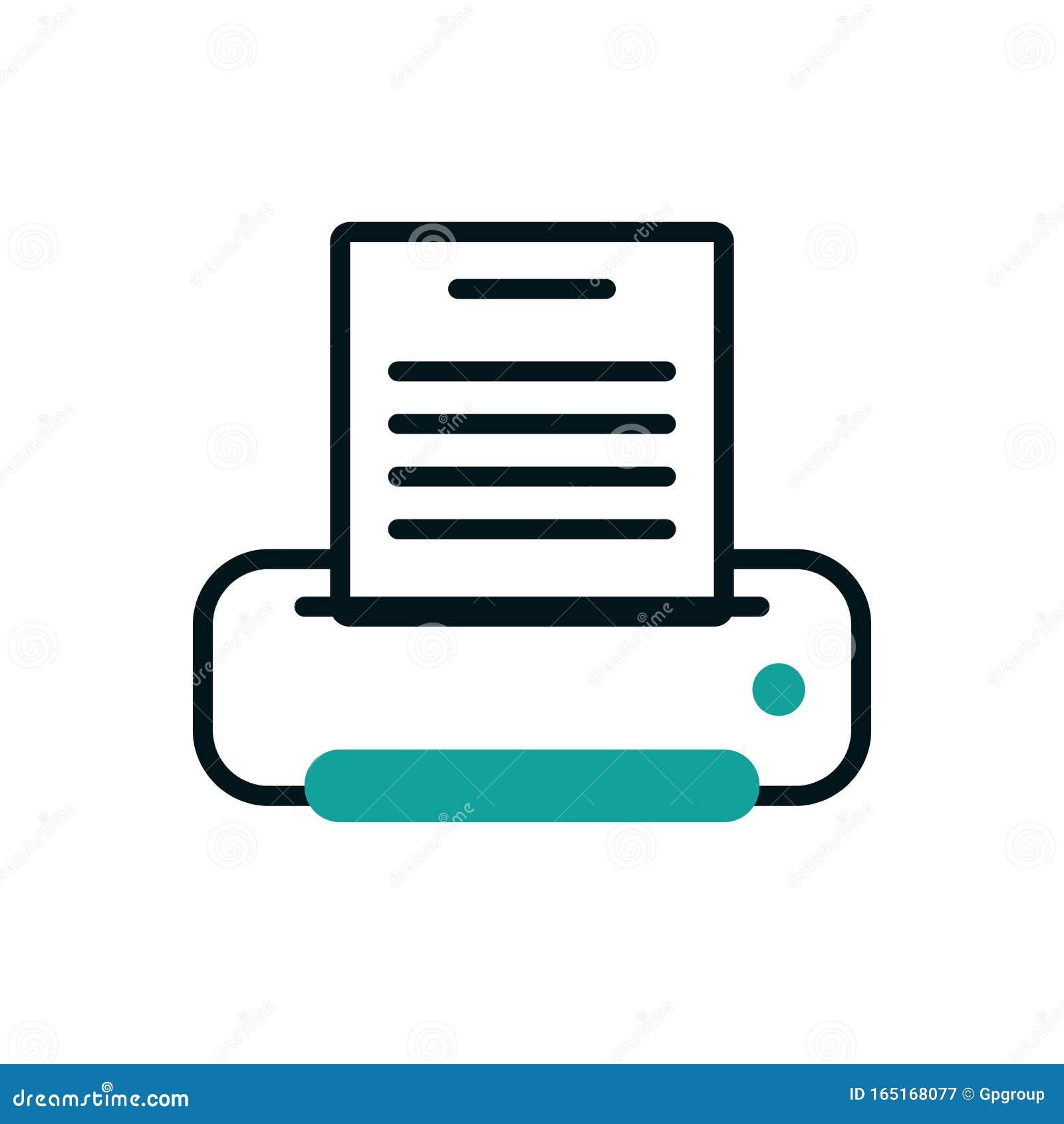 Digital Printer Icon Vector Design Stock Vector ...