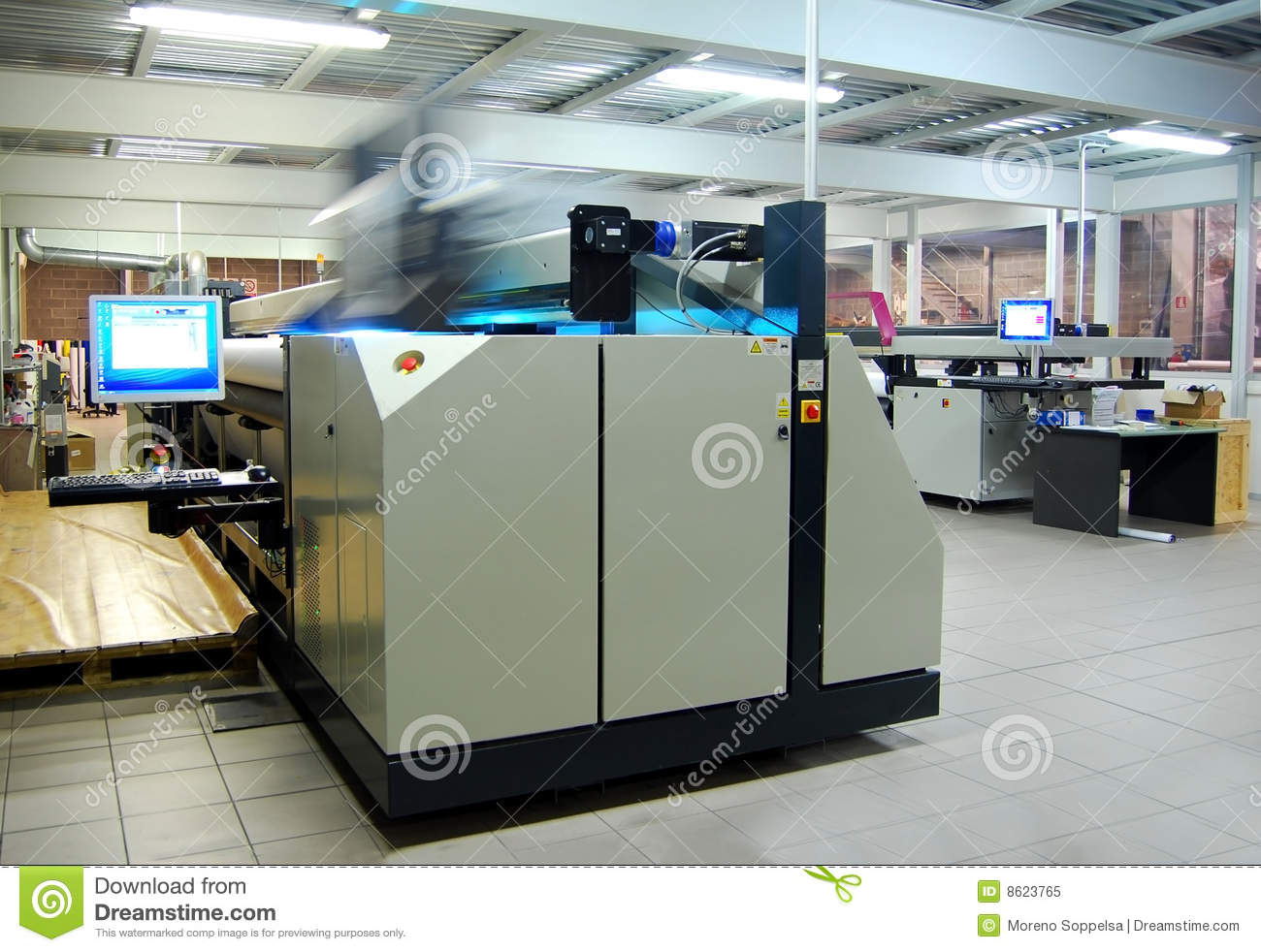 Digital Printing - Wide Format Stock Image - Image of banners, arts