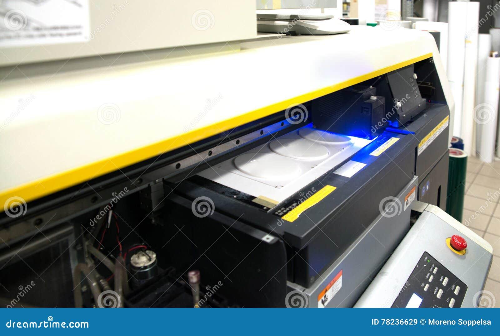 Digital Printing - Wide Format Printer Stock Image - Image of high