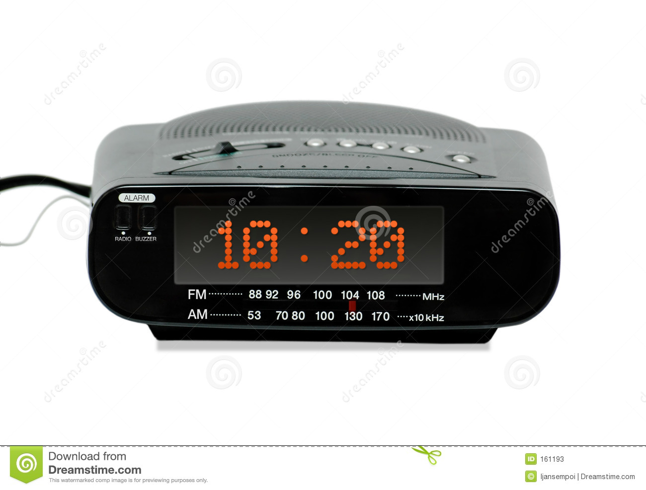 digital radio alarm clock stock photos image 161193. Black Bedroom Furniture Sets. Home Design Ideas