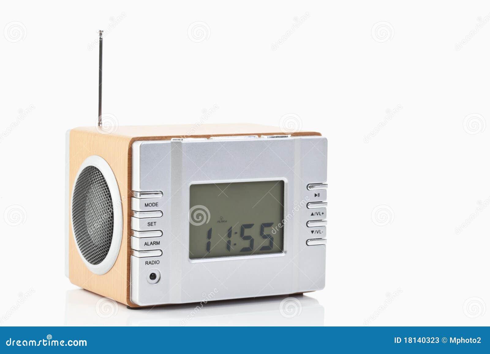 digital radio alarm clock stock photos image 18140323. Black Bedroom Furniture Sets. Home Design Ideas