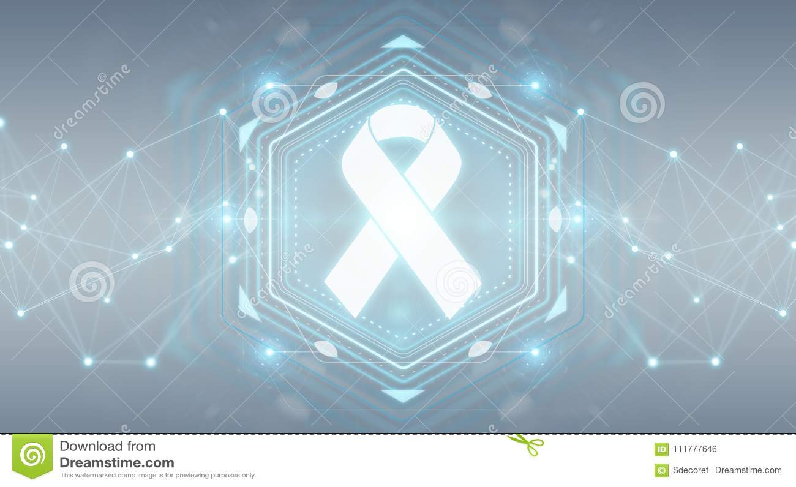 Digital ribbon cancer interface 3D rendering
