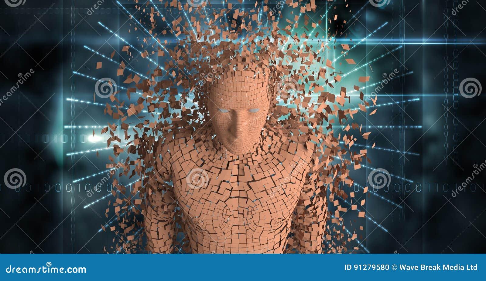 Digital sammansatt bild av den spridda människan 3d