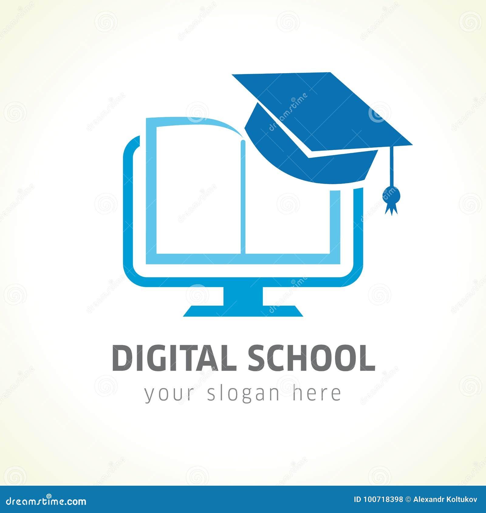 Digital School Online Logo Vector Illustration ...