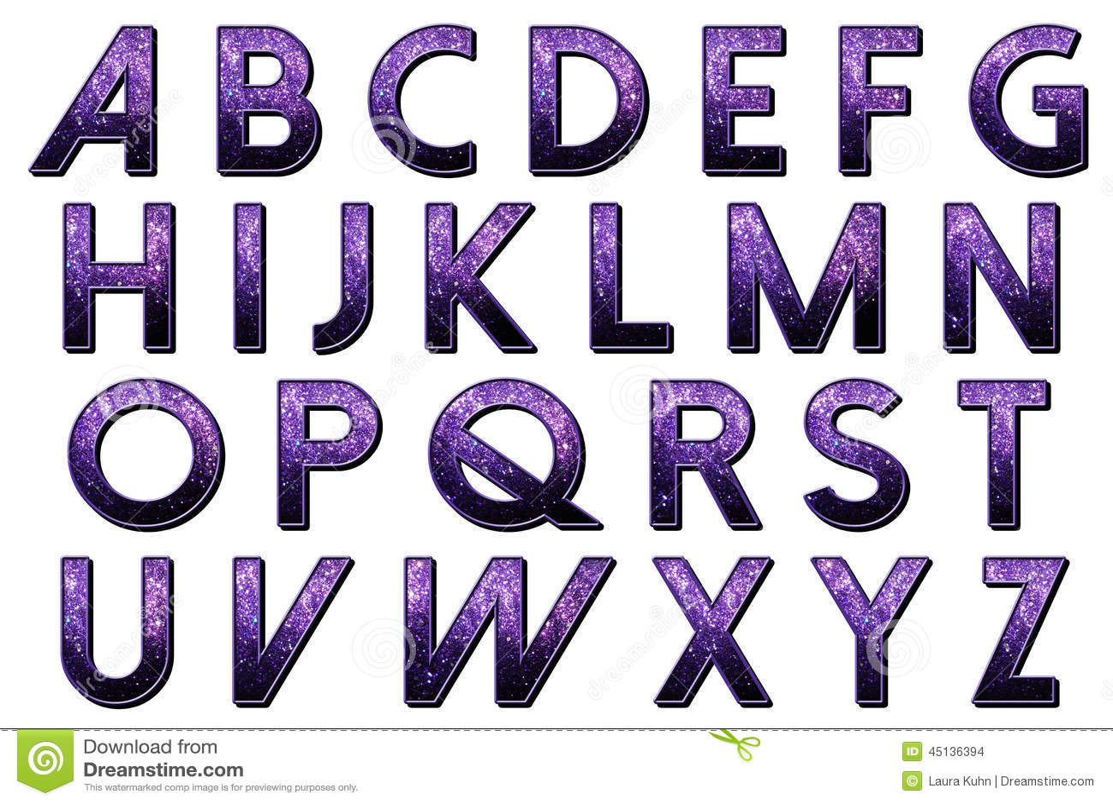 How to scrapbook letters - Digital Scrapbook Alphabet Dolce Vita