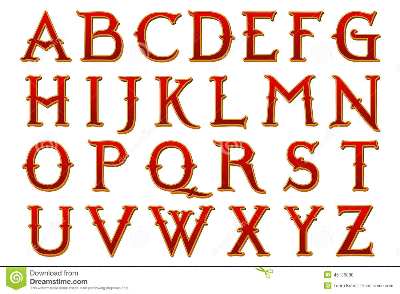 This A To Z Alphabet Is Hand Created Digitally For Your Design Purposes In Fantasy Land Narnia Style Perfect Posters Banners Scrapbooking Etc