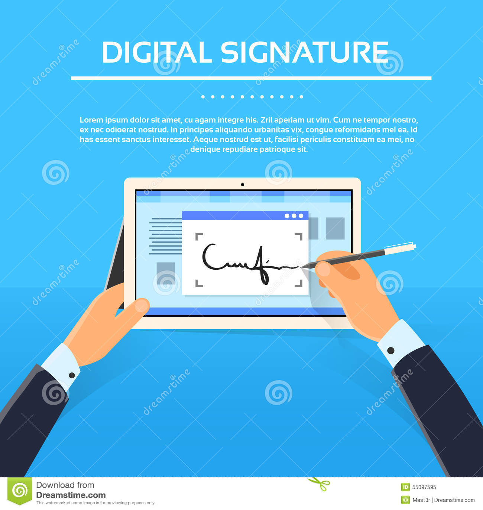 how to set up a digital signature