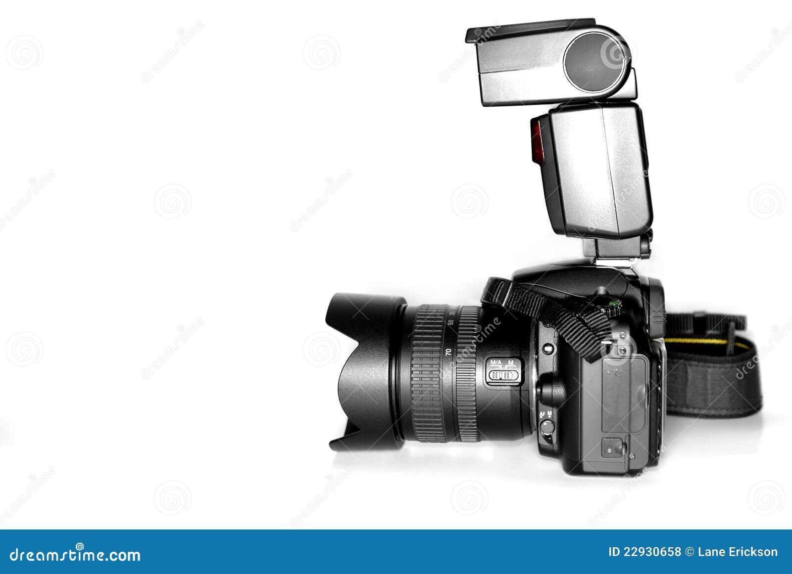 Digital SLR Camera with Flash