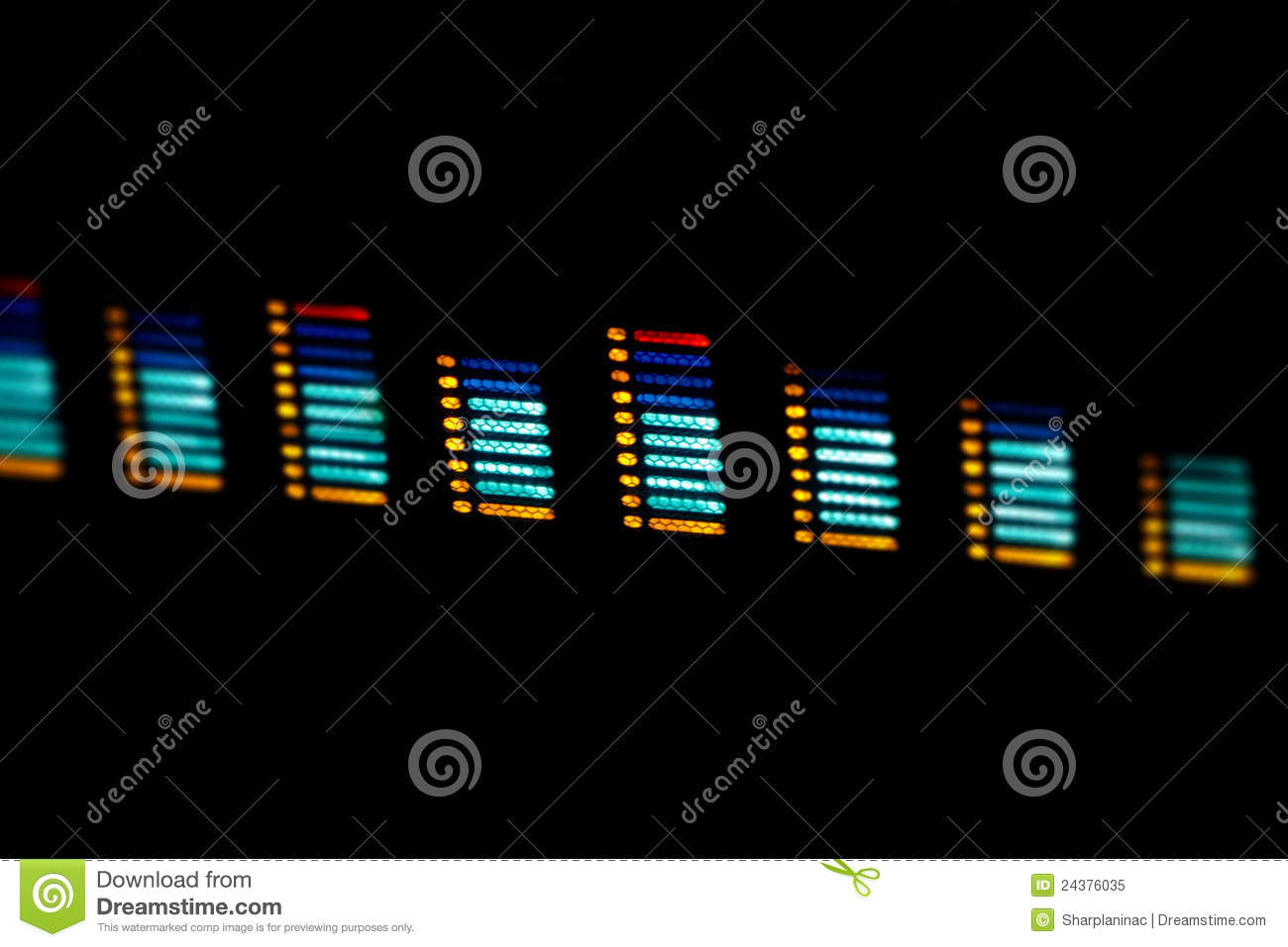 Digital Sound Waves Over Black Background Royalty Free Stock Photo ...
