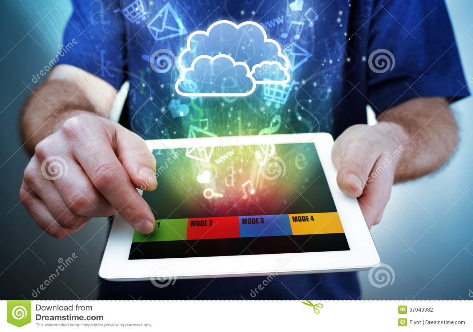 Digital tablet, multimedia and cloud computing
