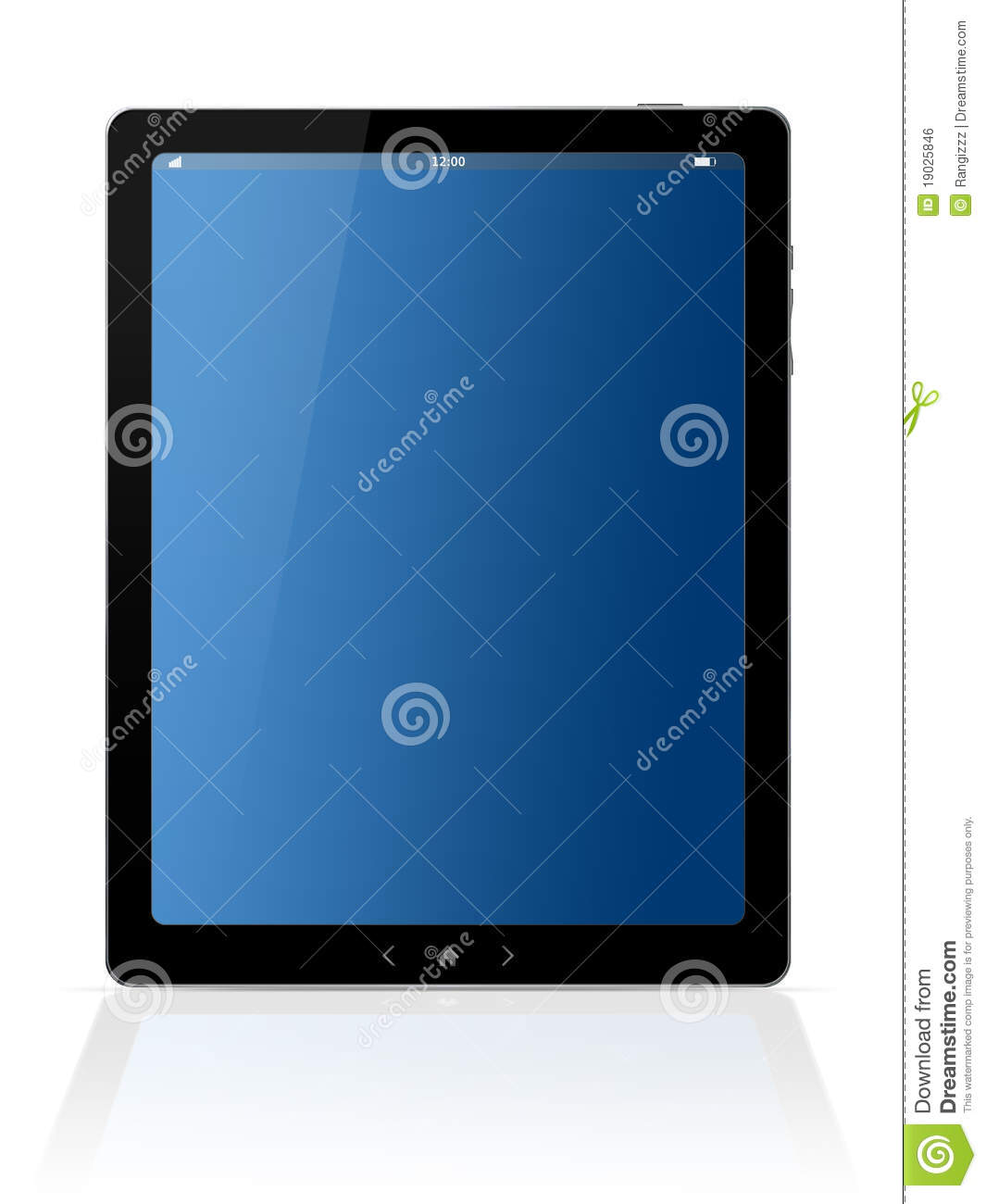 digital tablet vertical royalty free stock image image
