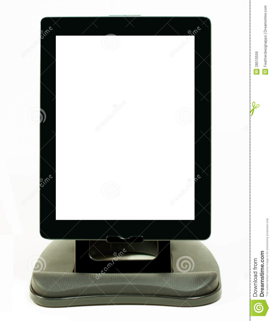 Digital Tablet With Vertical Position On Stand Royalty