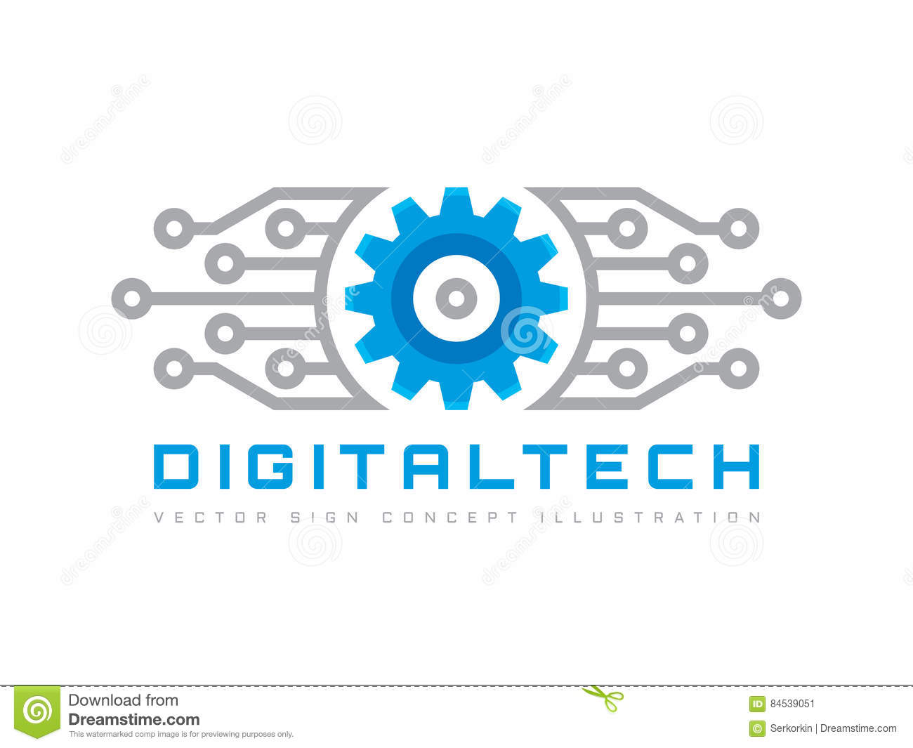 Digital tech vector business logo template concept illustration download digital tech vector business logo template concept illustration gear electronic factory sign flashek Images