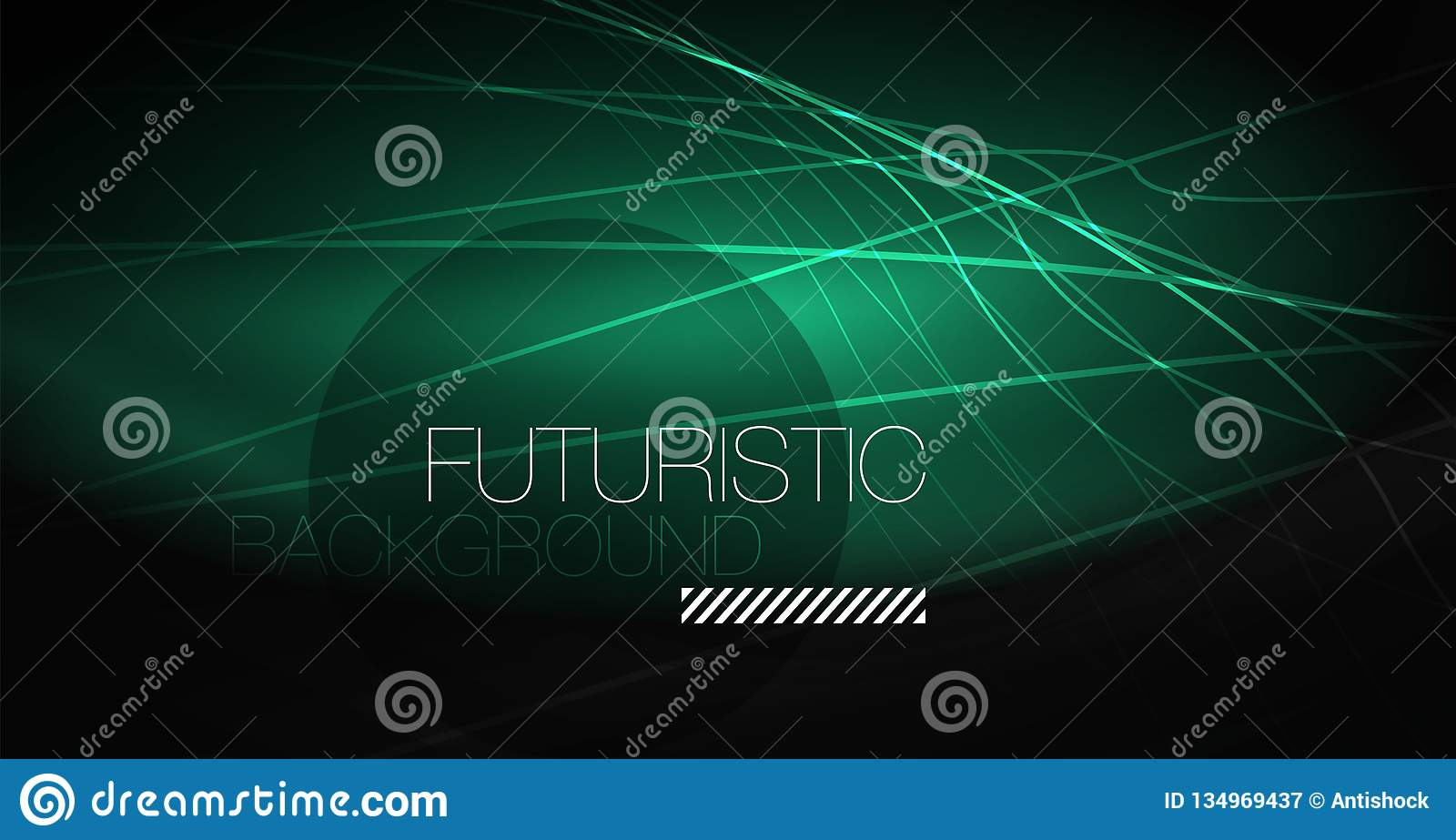Digital technology abstract background - neon geometric design. Abstract glowing lines. Colorful techno background