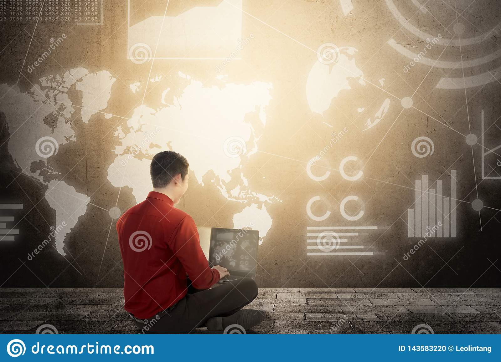 Digital technology concept