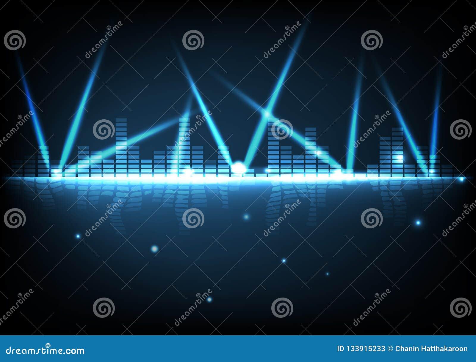 Digital teknologi med ljus ljus effektabstrakt begreppbakgrund