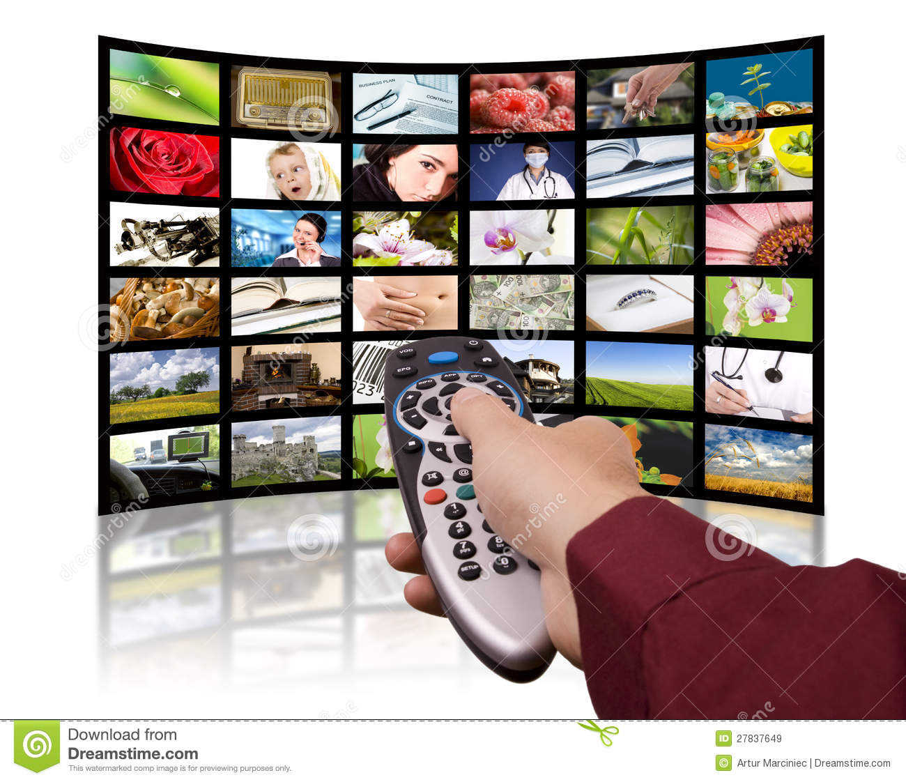 What Time Is It On What Tv: Digital Television, Remote Control TV. Royalty Free Stock