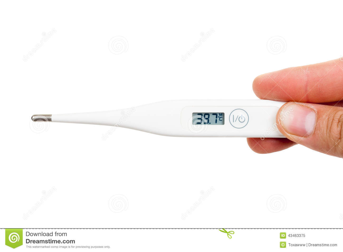 thermometer showing hi...