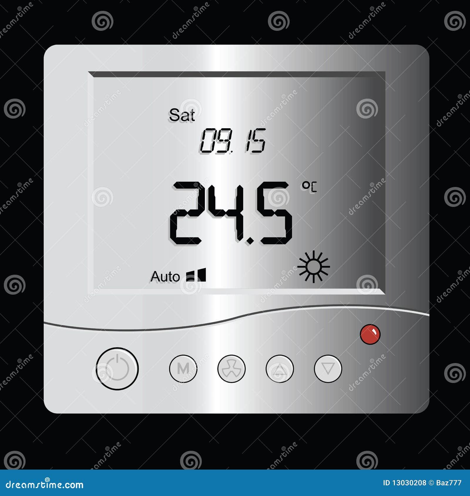 Digital Thermostat Royalty Free Stock Photos