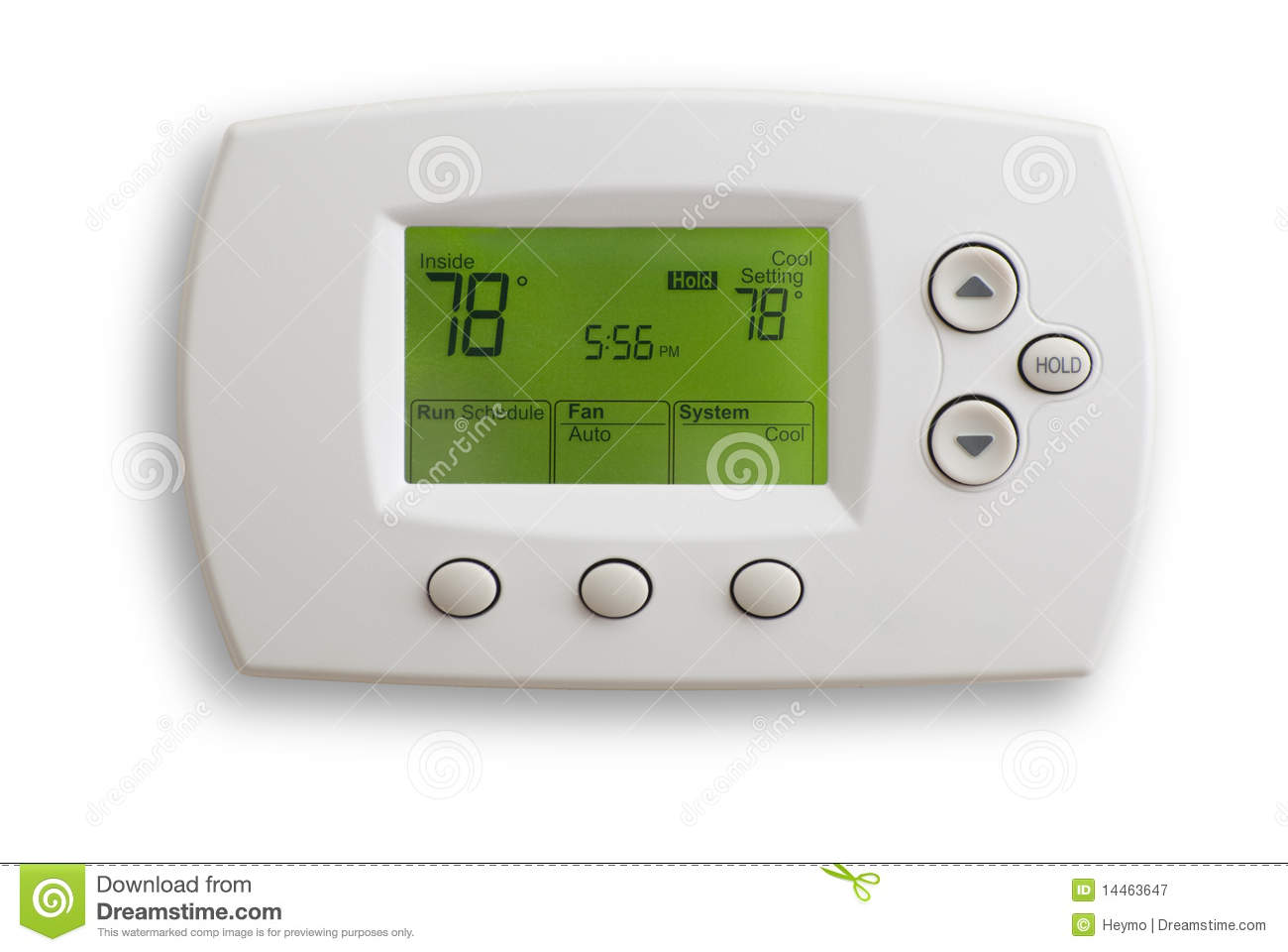 Digital Thermostat set to 78 degrees Fahrenheit. Saved with clipping  #82A229
