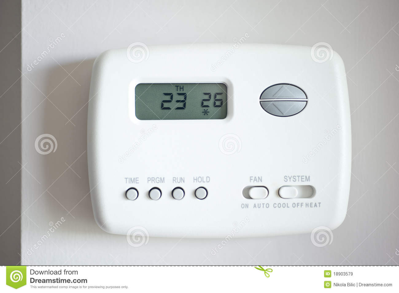 Digital Thermostat Royalty Free Stock Images Image: 18903579 #82A328