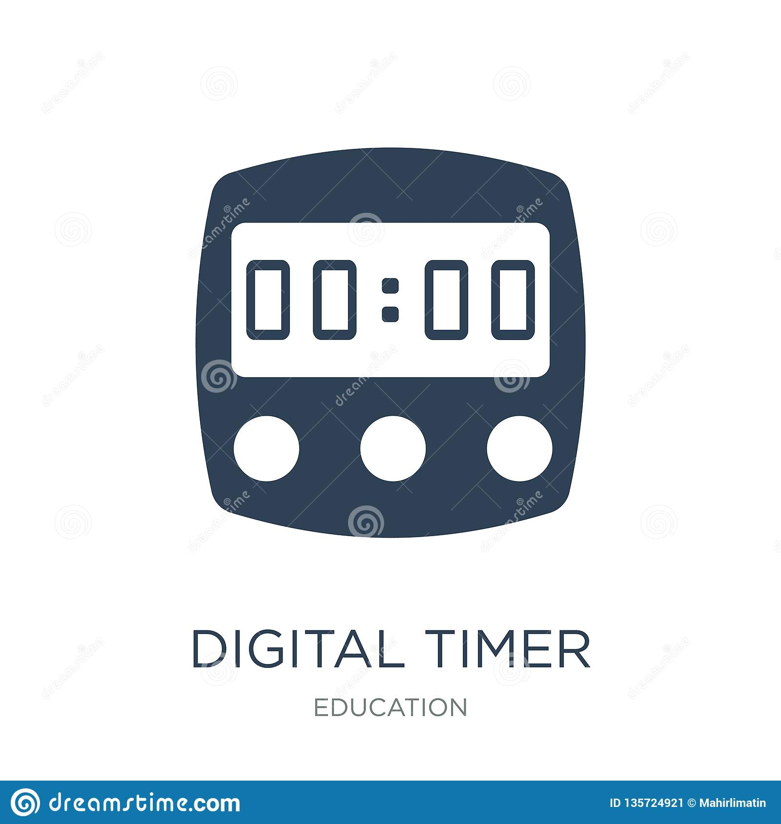 digital timer icon in trendy design style. digital timer icon isolated on white background. digital timer vector icon simple and