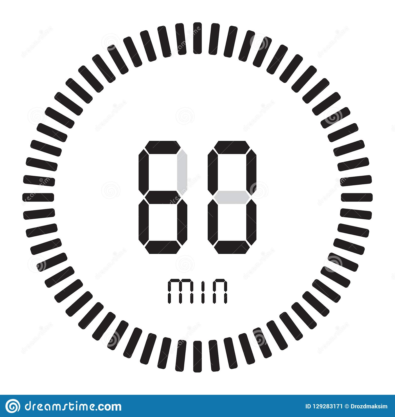 The Digital Timer 60 Minutes, 1 Hour  Electronic Stopwatch With A