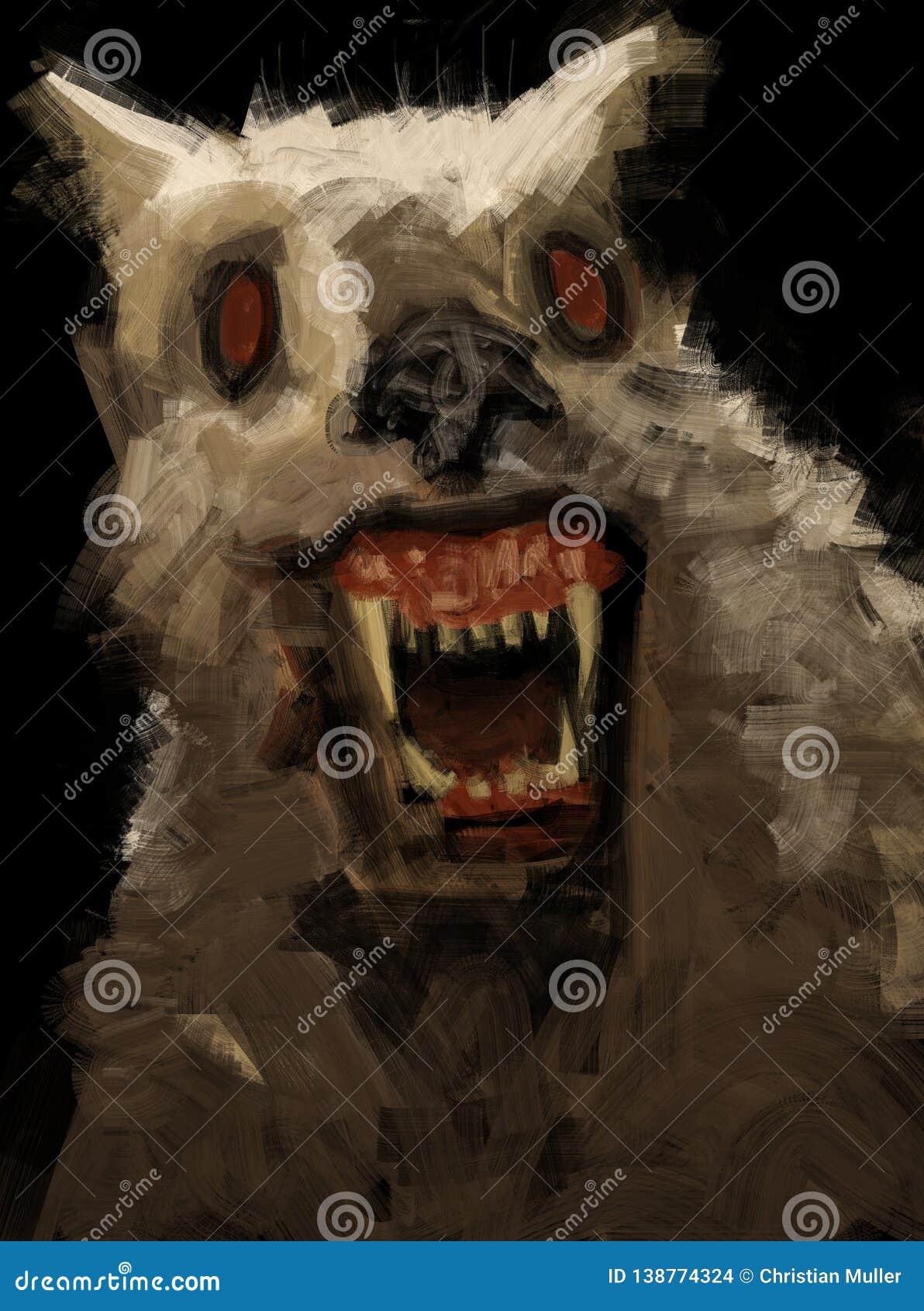 Werewolf Teeth Stock Illustrations – 370 Werewolf Teeth