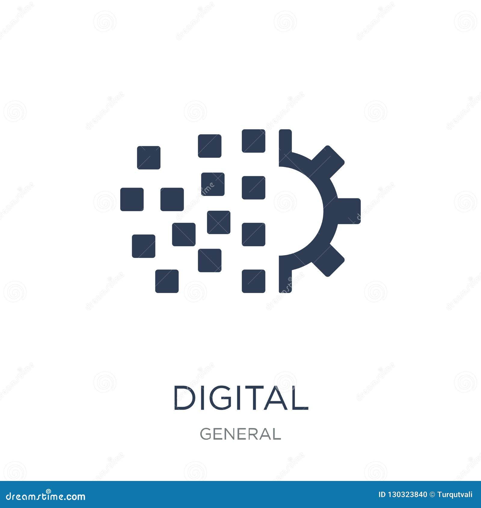 Digital Transformation Icon  Trendy Flat Vector Digital