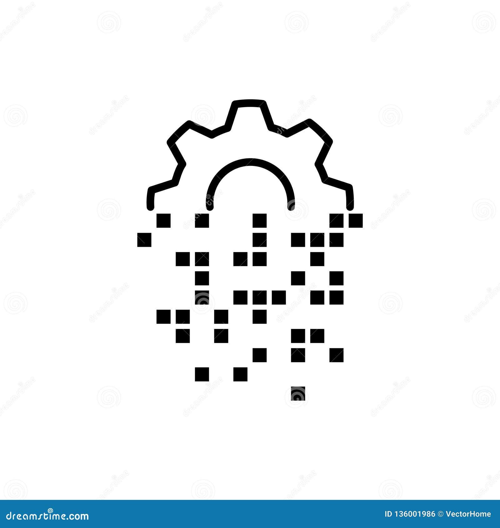 Digital Transformation Icon , Vector Illustration Stock