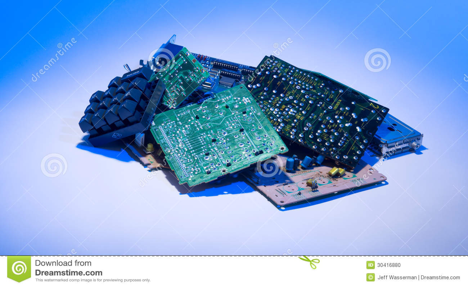 Digital Trash In Garbage Pile Stock Photo Image 30416880