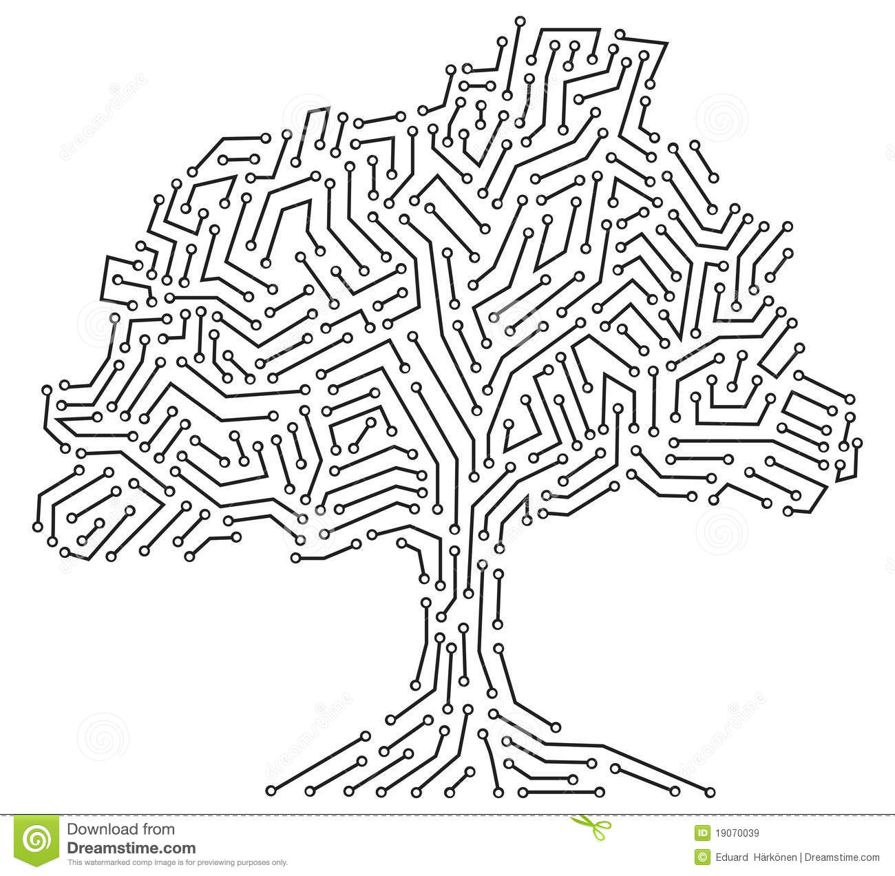 digital tree concept royalty free stock images