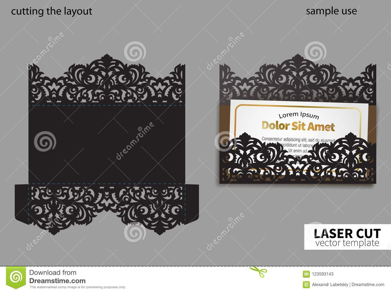 Vector laser cutting stock vector illustration of crochet 123593143 digital vector file for laser cutting swirly ornate wedding invitation envelope stopboris Image collections