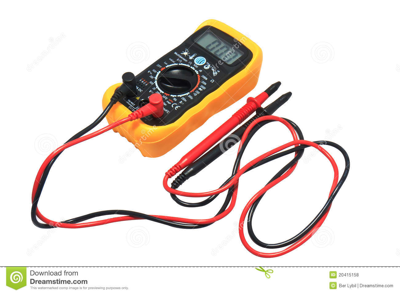 Digital Voltage Meter Isolate On White Royalty Free Stock Photos ...