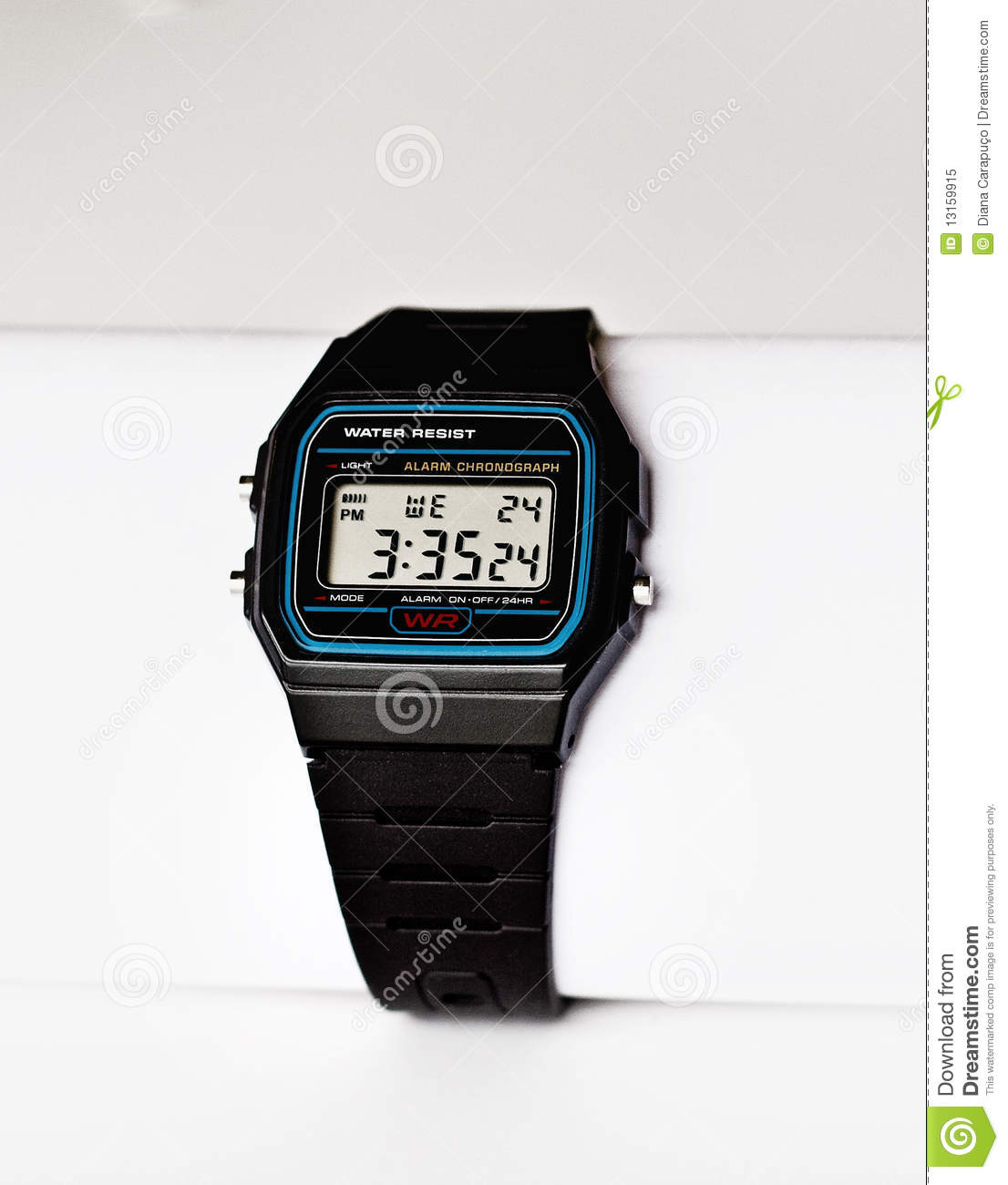 how to set time in digital watch
