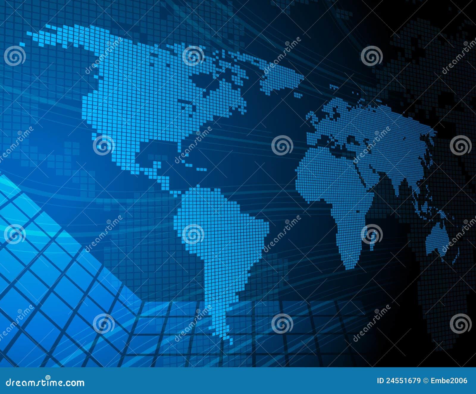Digital-Weltkarte