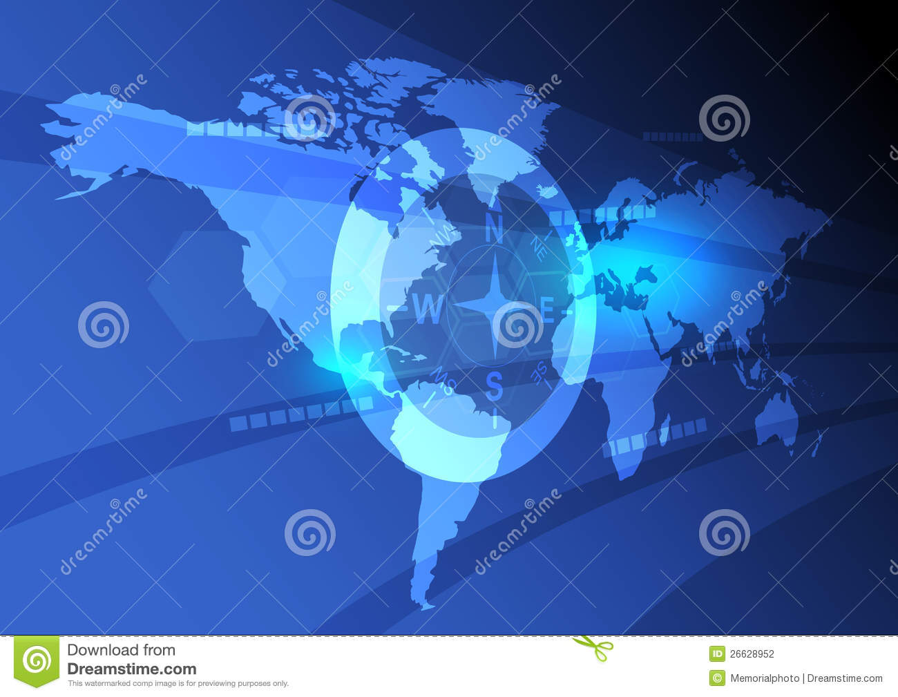 Digital world map background stock vector illustration of future digital world map background gumiabroncs