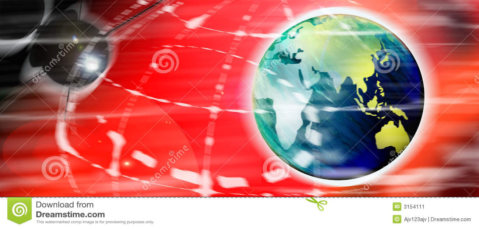 Digital world and satellite
