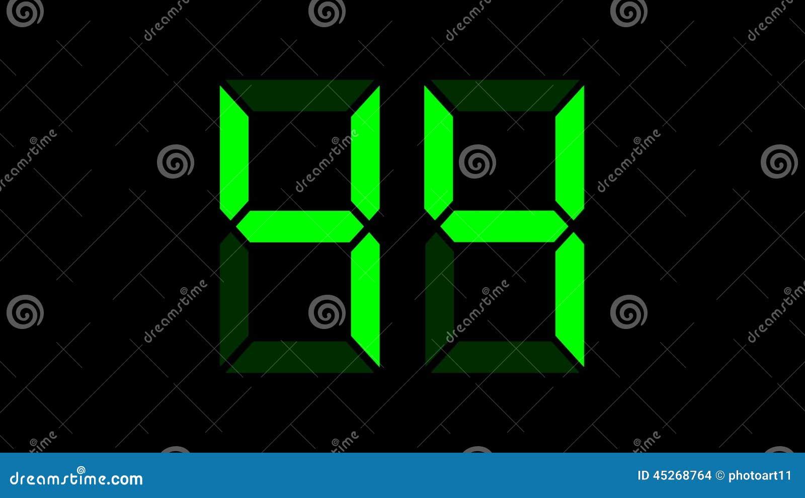 Digital-Zähler 0-99, Jede Zahl In Den Unterschiedlichen Rahmen Stock ...