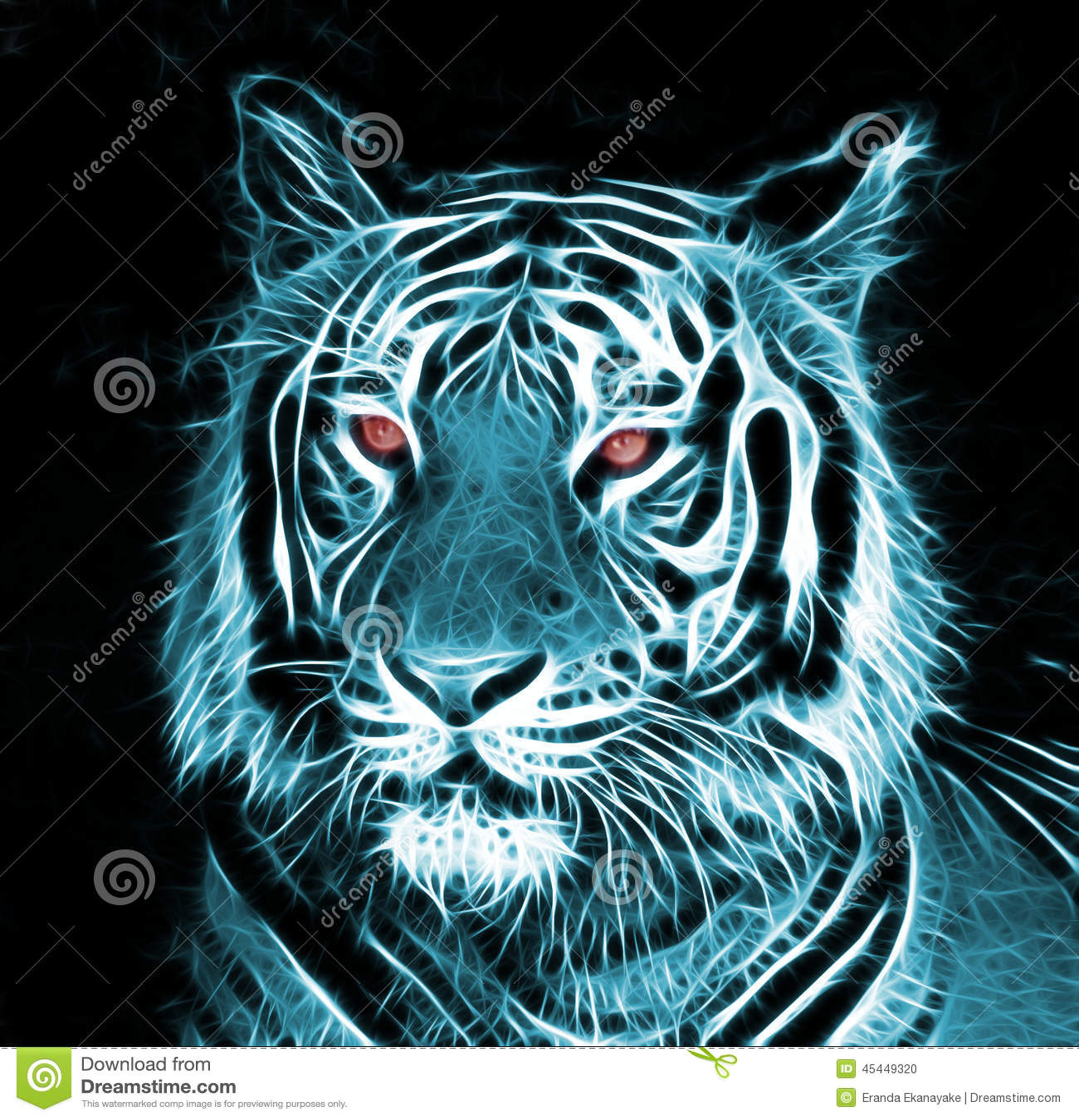 Digital-Zeichnung eines Tigers