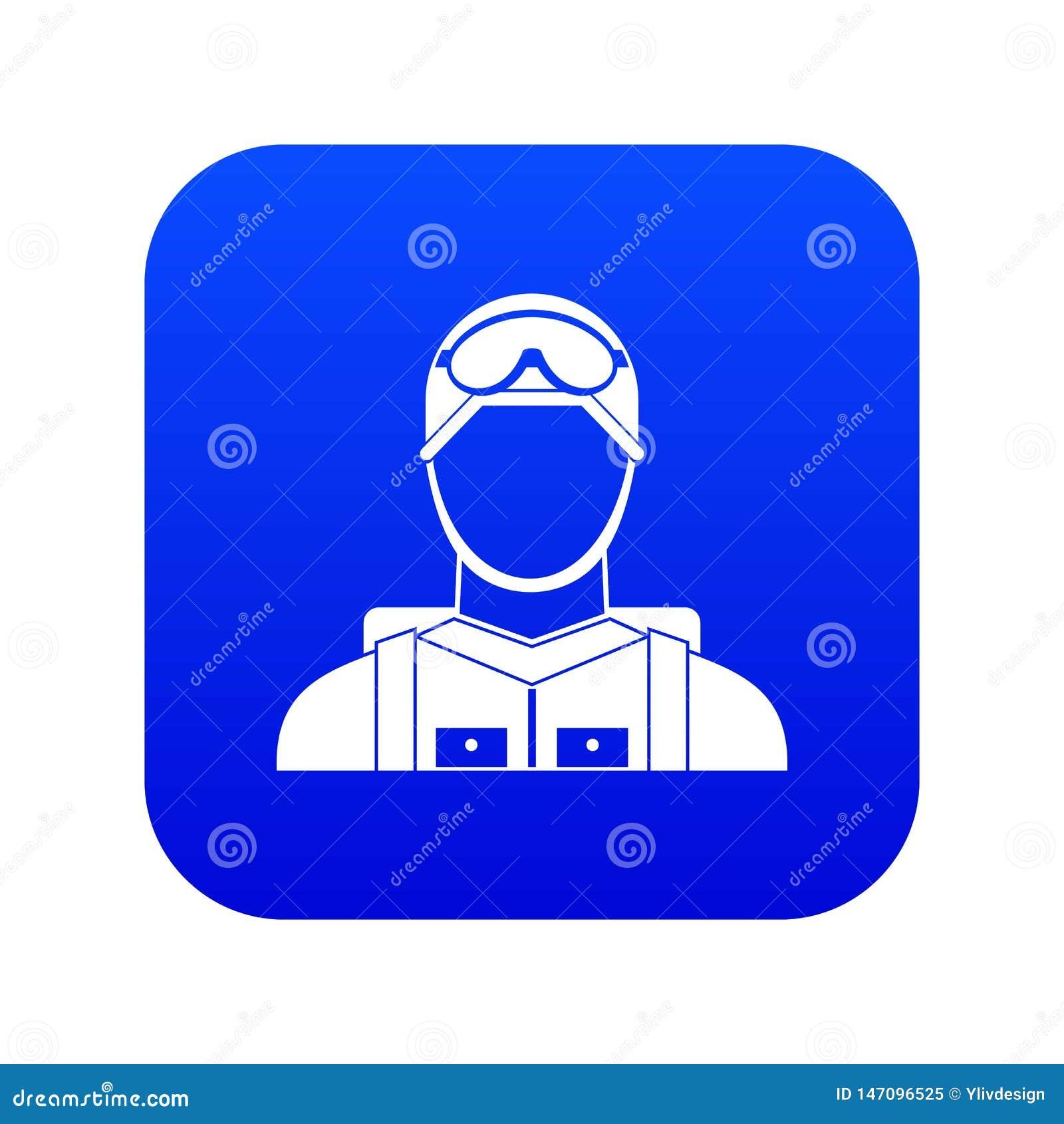 Digitala blått för militär fallskärmsjägaresymbol
