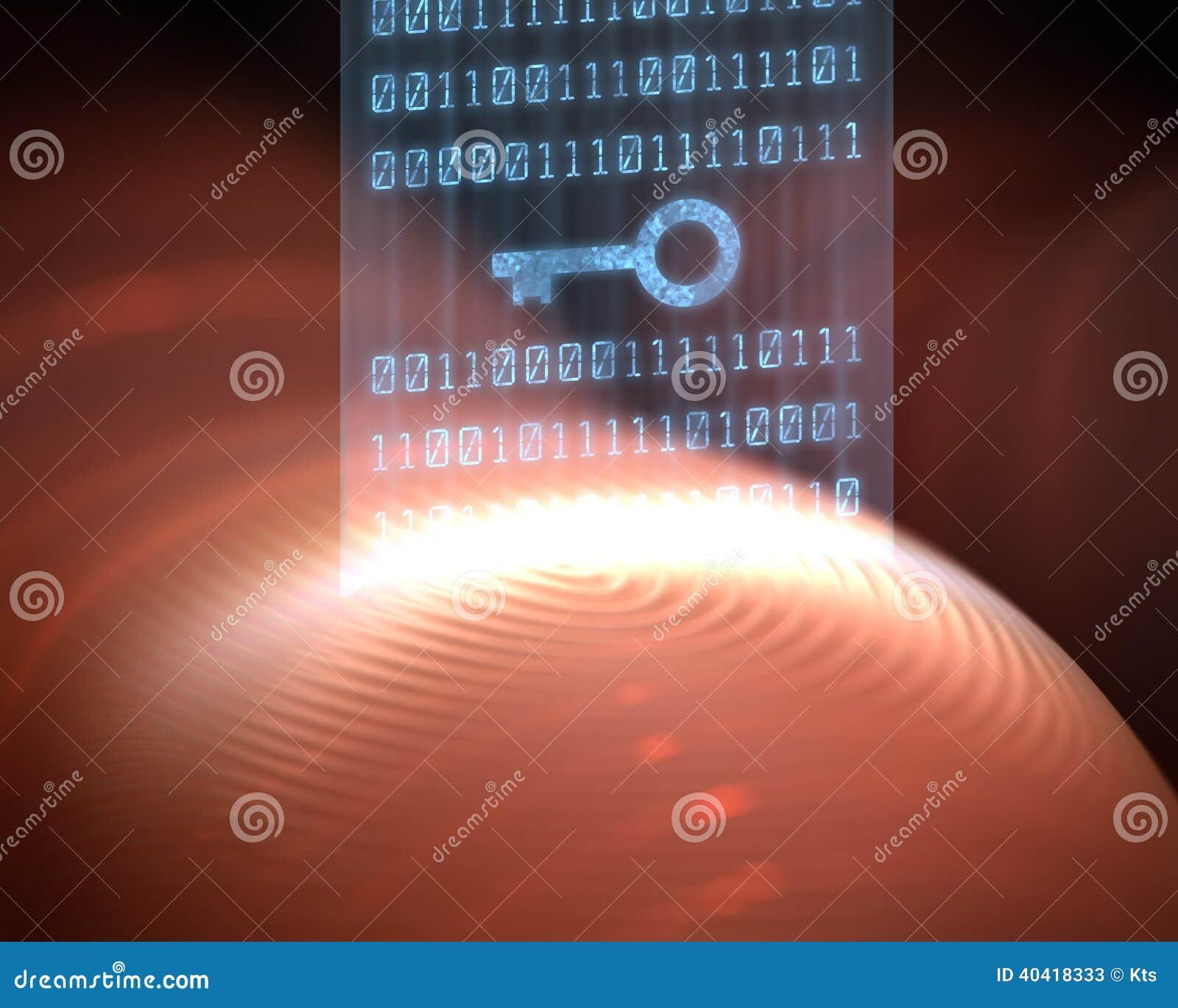 Digitale de Veiligheid van de vingerafdruk