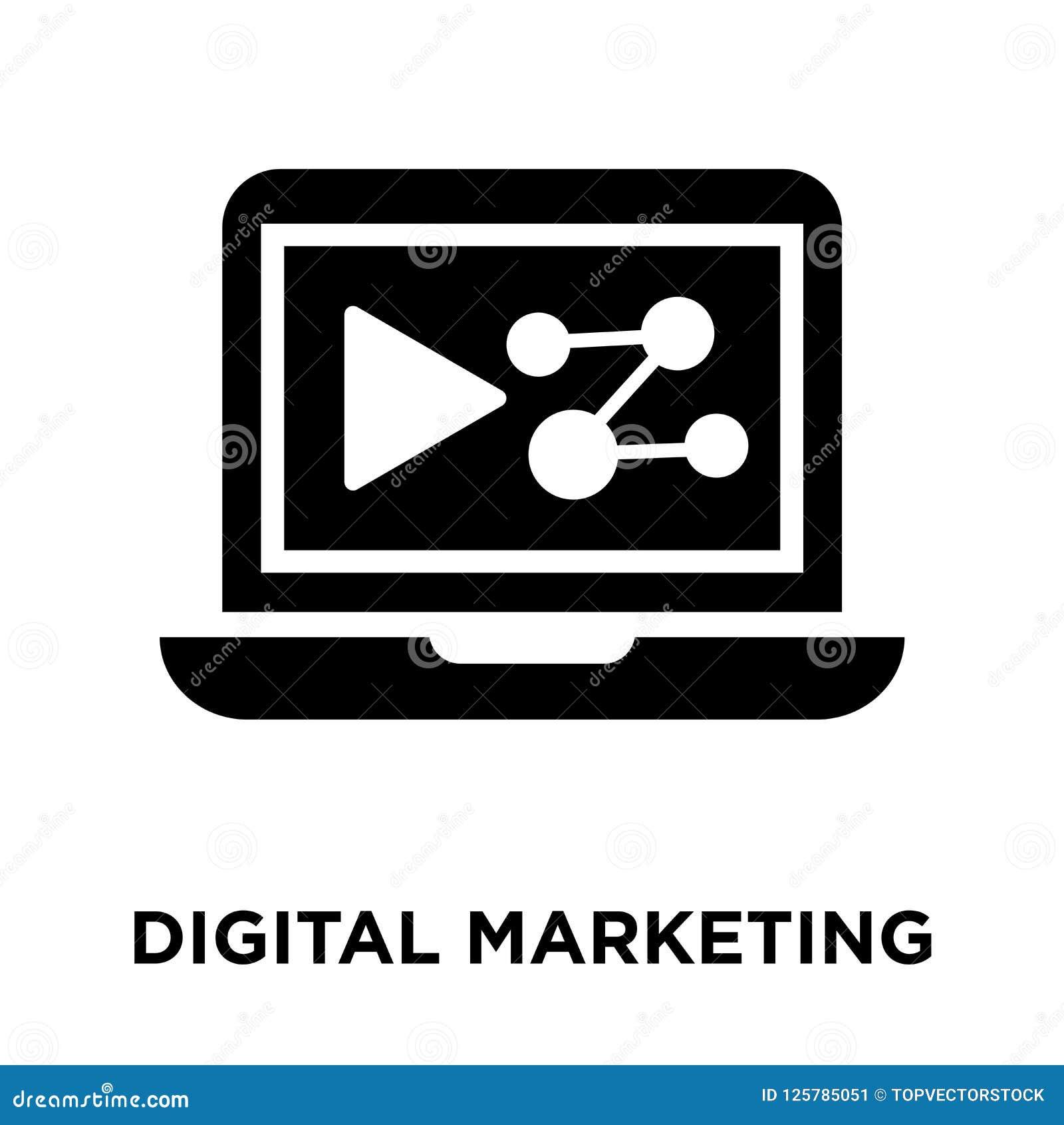 Digitale die marketing pictogramvector op witte achtergrond, embleem wordt geïsoleerd