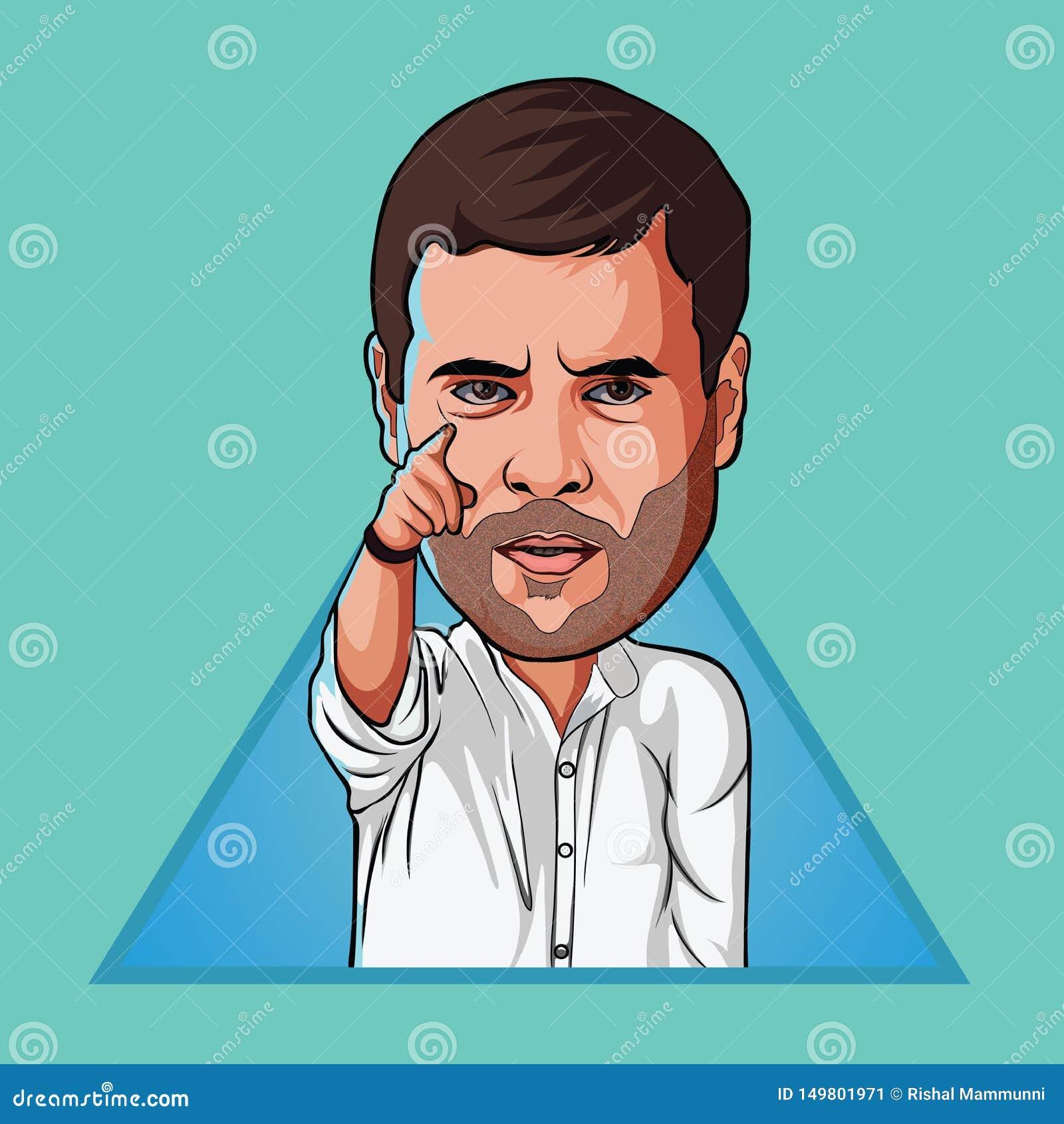 Digitale Kunst van Rahul Gandhi