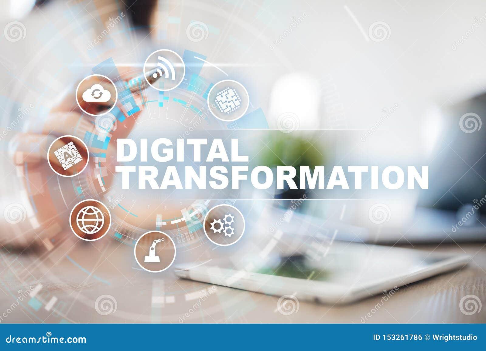 Digitale transformatie, Concept digitalisering van bedrijfsprocessen en moderne technologie