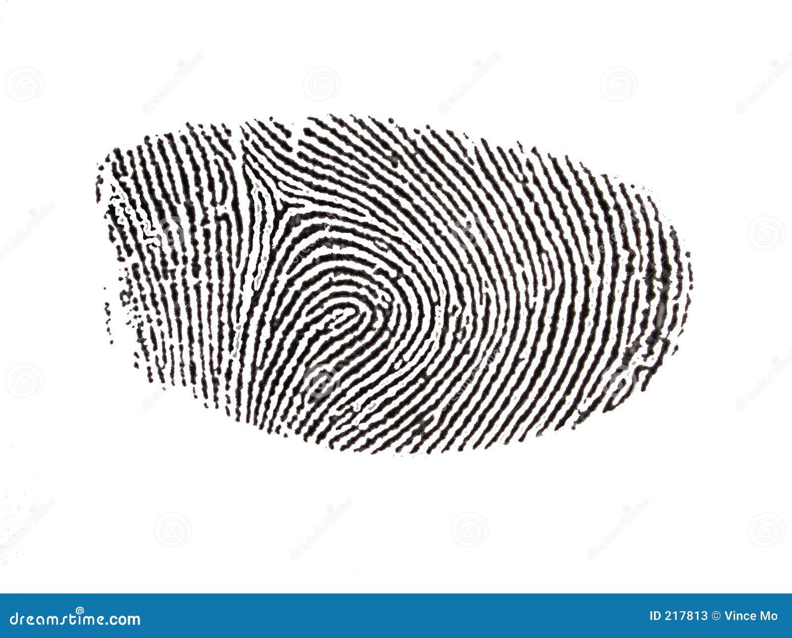 Digitalisierter Fingerabdruck