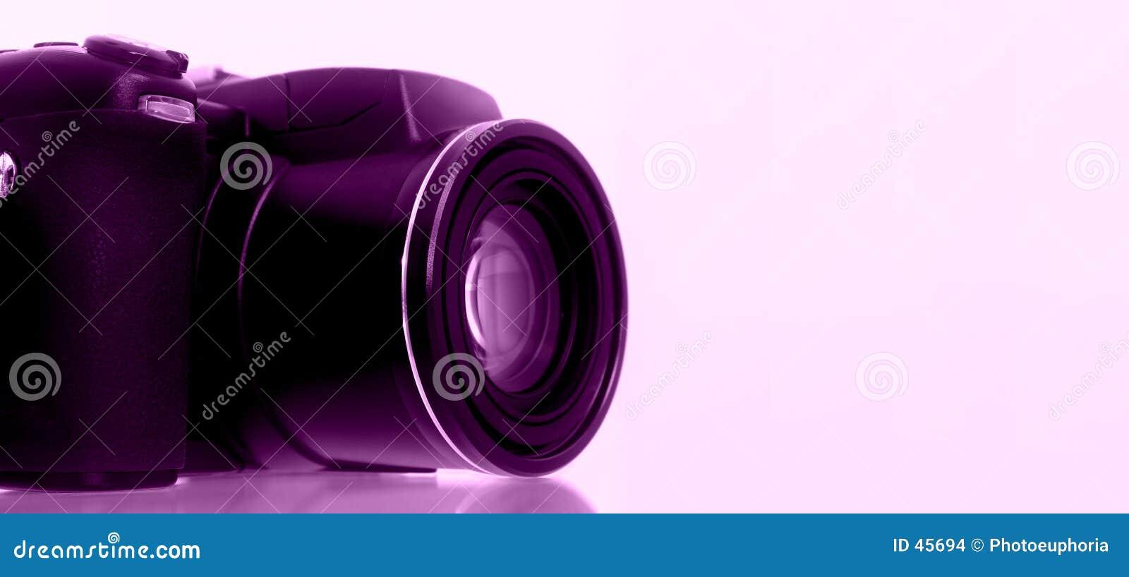 Digitalkamera mit Trauben-Hintergrund