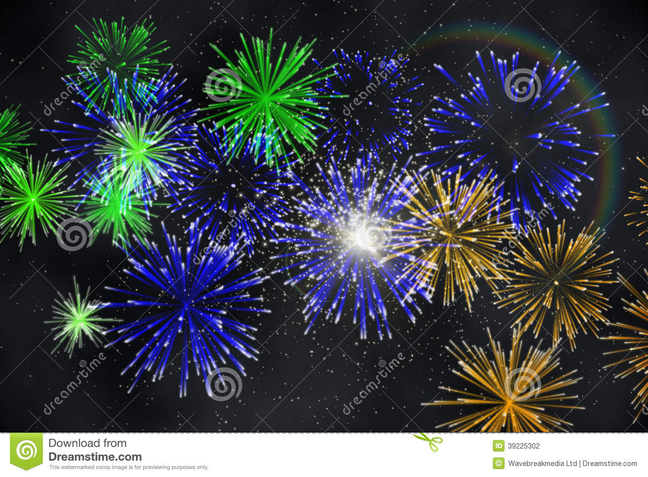 Digitally Generated Firework Design Stock Illustration ...