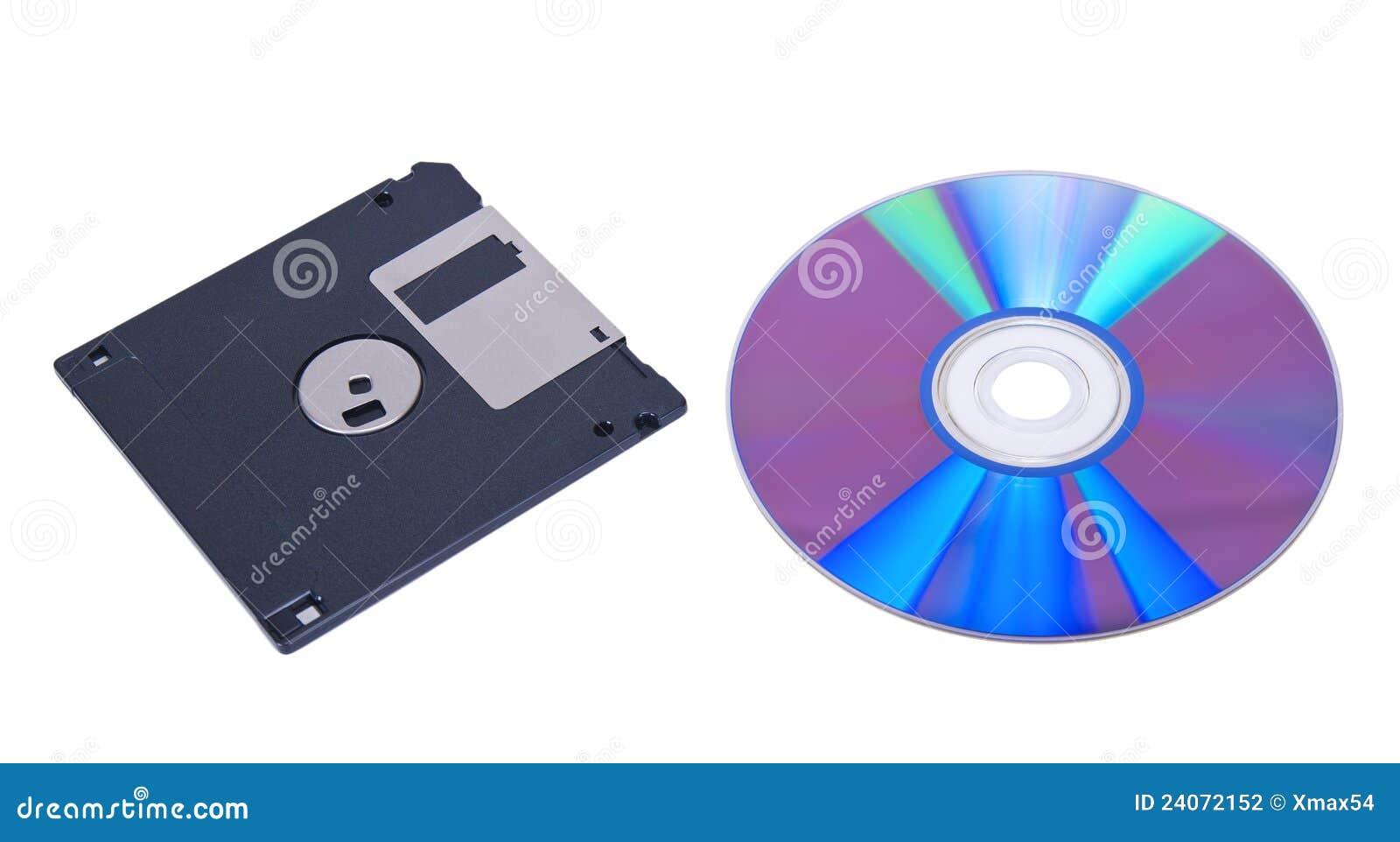 Digitalschallplatte und Floppy-Disc