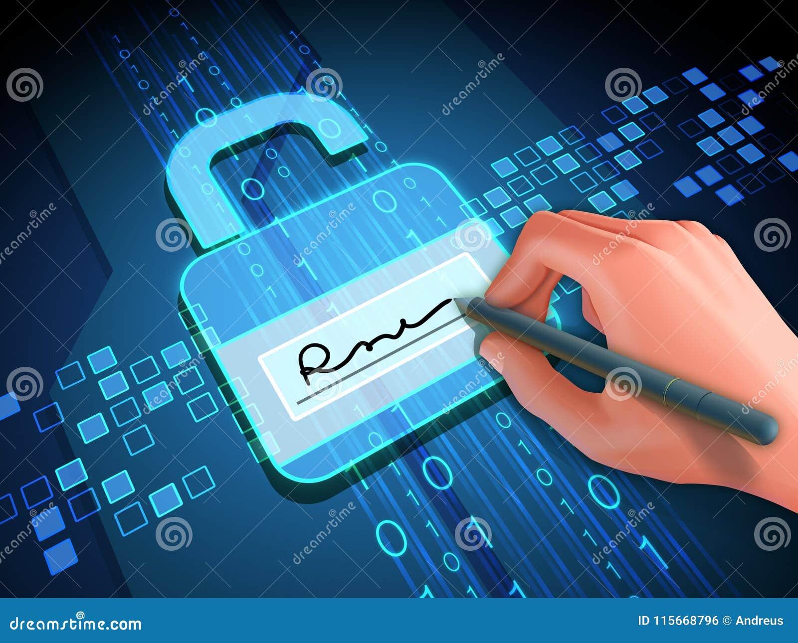 Digitalt häfte och lås